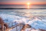 Над бушуващото януарско море