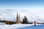 Ски писта над облаците