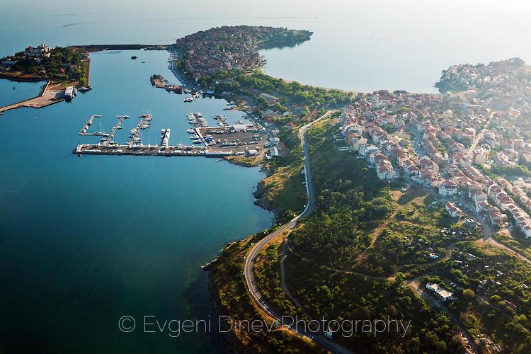 Созопол и остров Кирик от аероплан