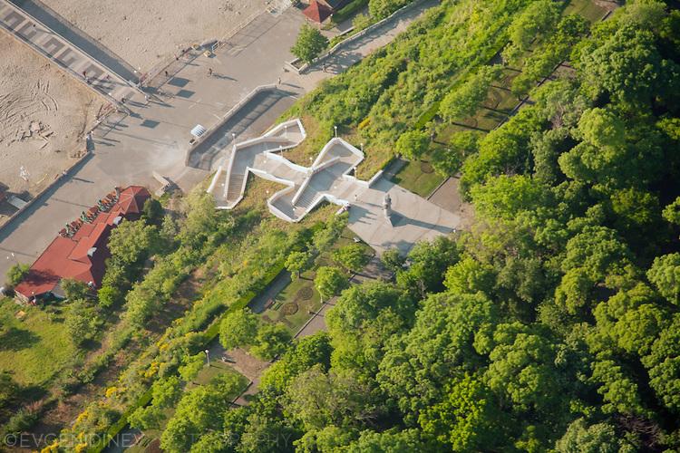 Морската градина в Бургас отвисоко