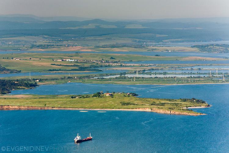 Бургаски залив от високо