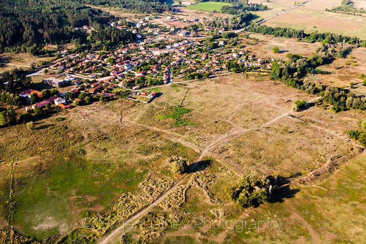Село Виден и потопената църква отвисоко