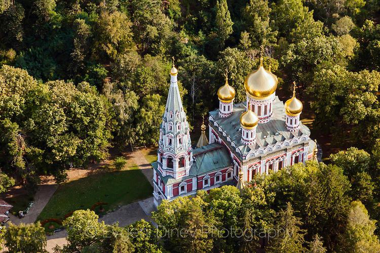 Руската църква до Шипка отвисоко