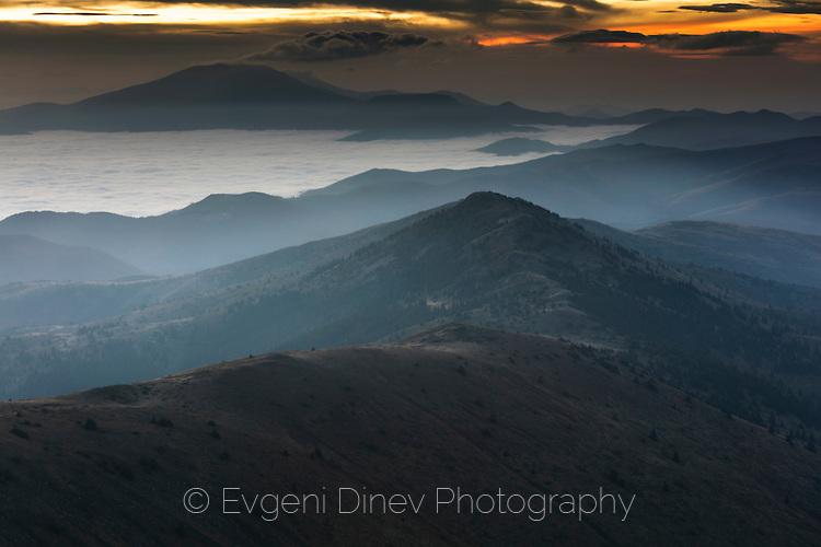 Старопланинското било но запад от връх Амбарица
