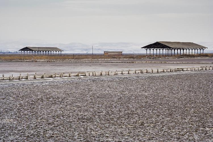 Атанасовско езеро през зимата