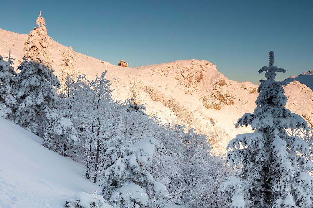 По пътя за хижа Ехо през зимата