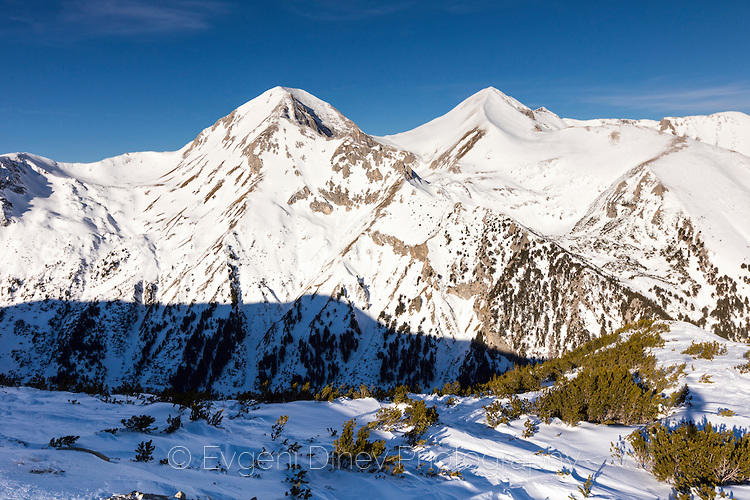 Вихрен и Кутело през зимата