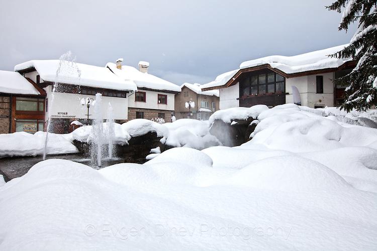 Зимен изглед от Банско
