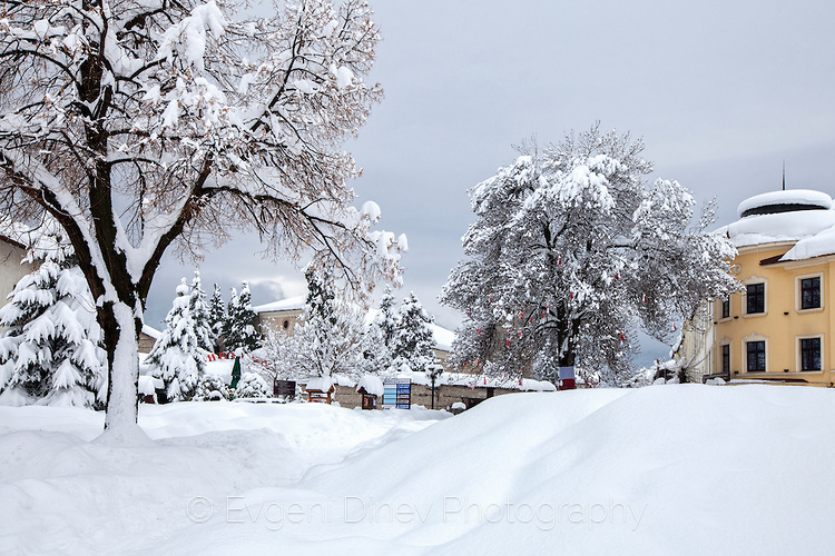 Снежна картина от Банско
