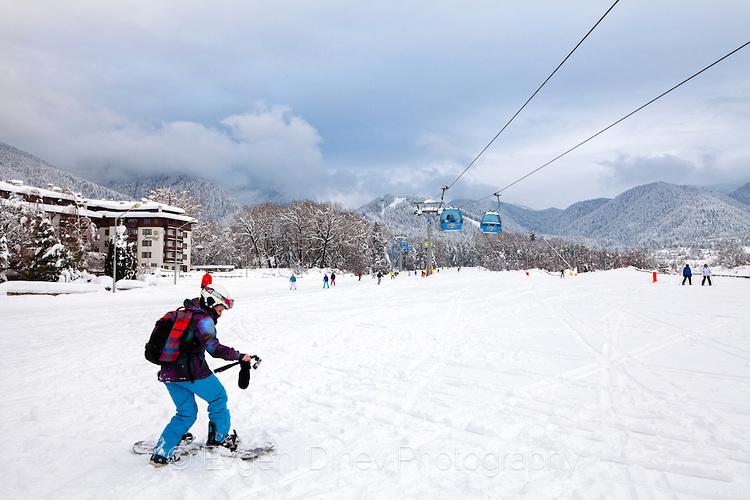 Сноубордист в Банско