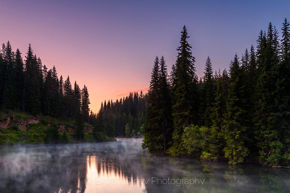 Утро край езерото