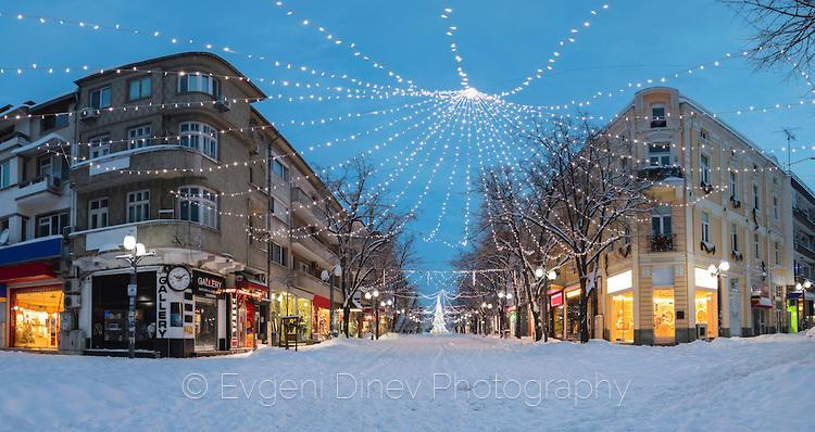 Януарски сняг в Бургас