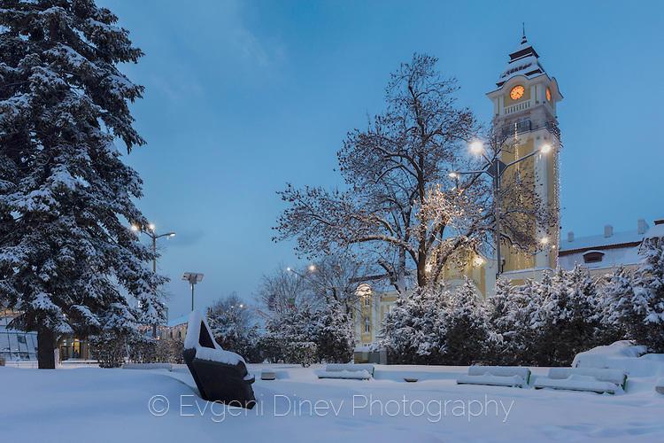 Зимен изглед край Бургаската гара