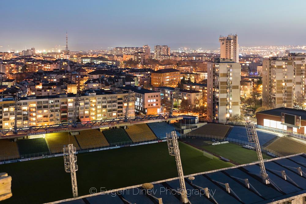 Изглед над стадиона в Бургас