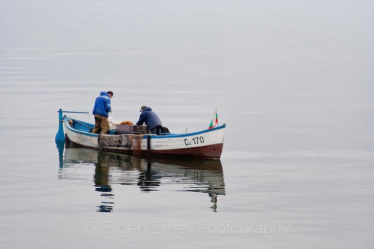 Созополска лодка в бургаски води