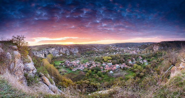 Панорама от крепостта Червен