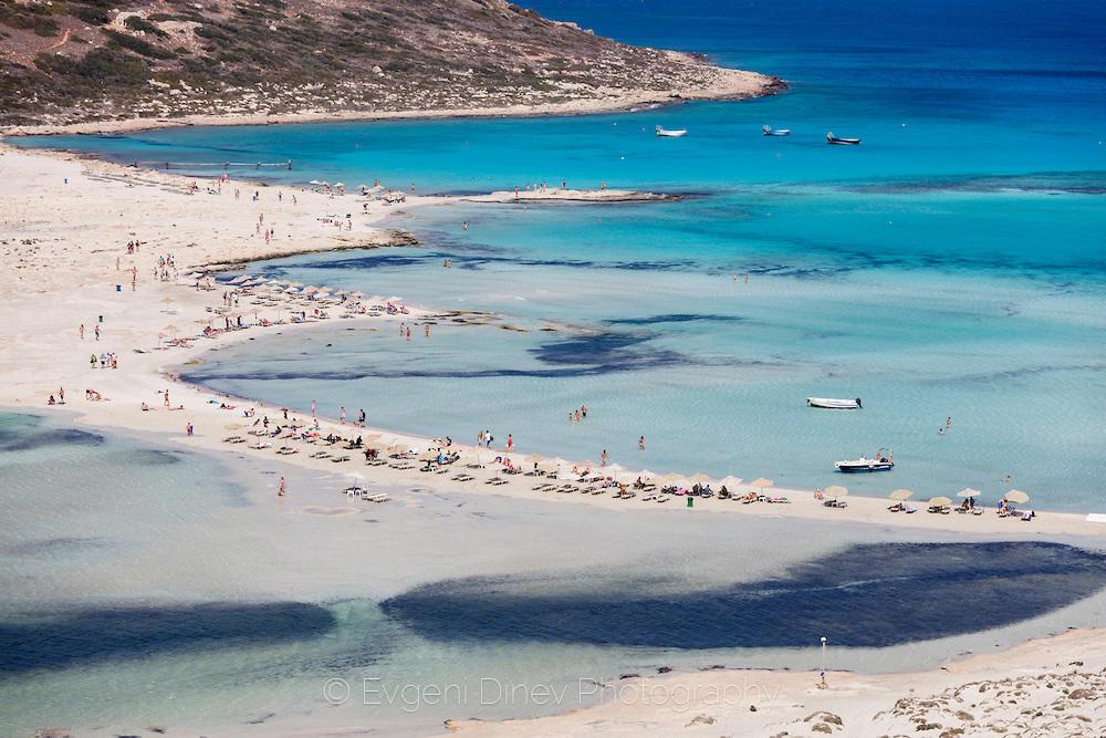 Плаж в синята лагуна Балос