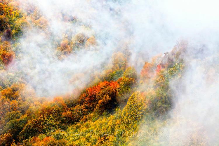 Гора с воал от мъгла