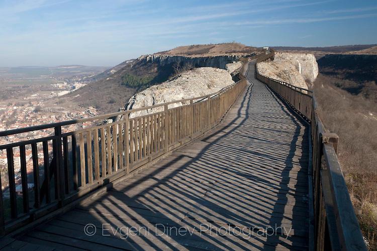 Дървен път в крепостта Овеч