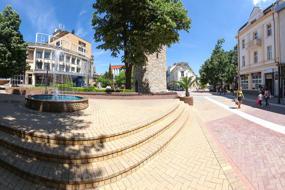 Реновираният център на Хасково