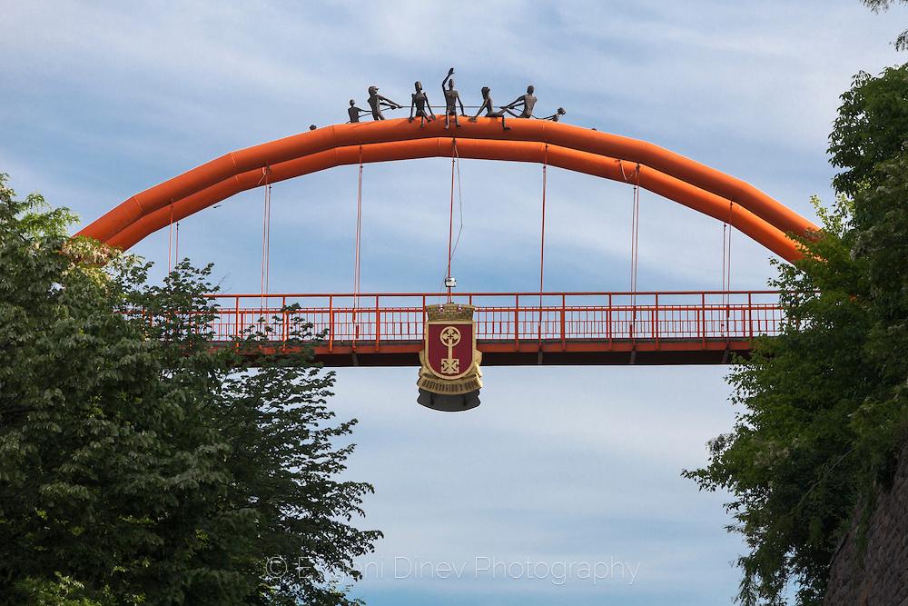 Оранжевият мост в Хасково