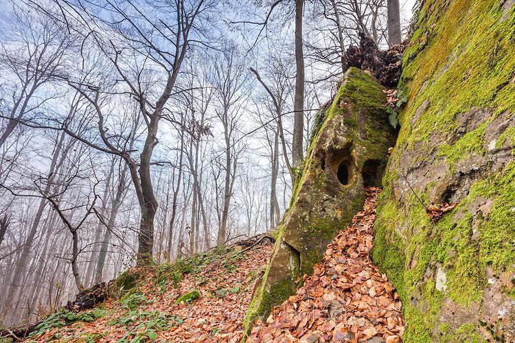 Естествено укрепена крепостна стена