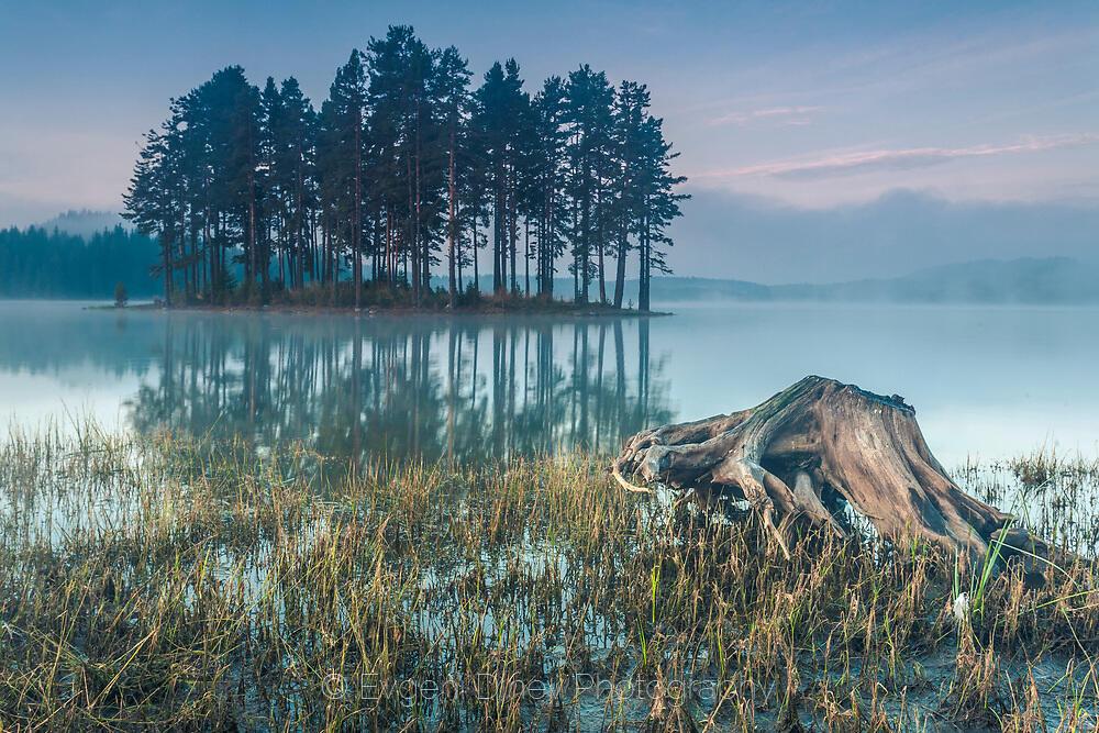 Остров обвит в мъгли