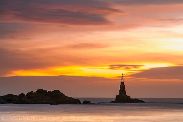 Ахтополския маяк по заран