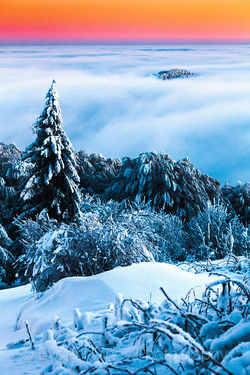 Планина под облаци