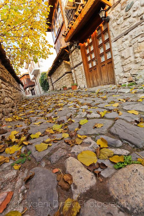 Несебърска уличка през есента