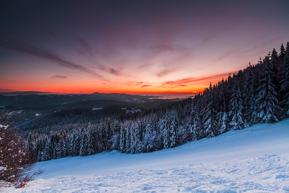 Ски писта по изгрев