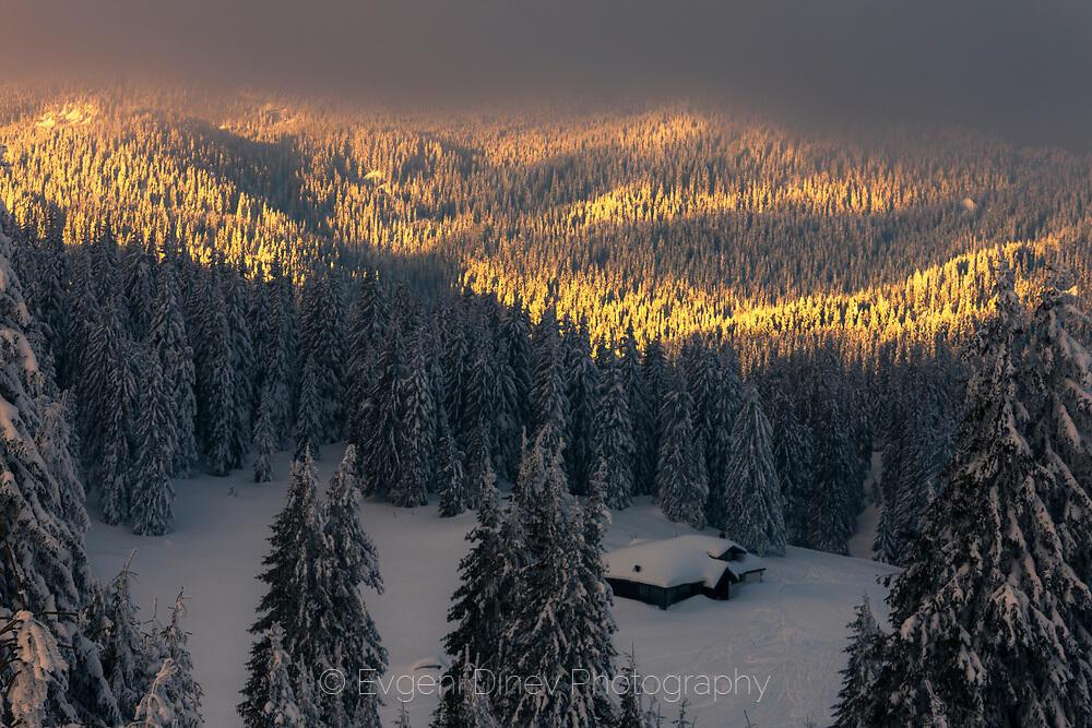 Хижа затрупана в снега