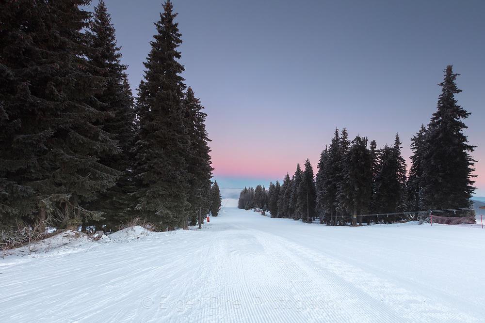 Ски писта без скиори