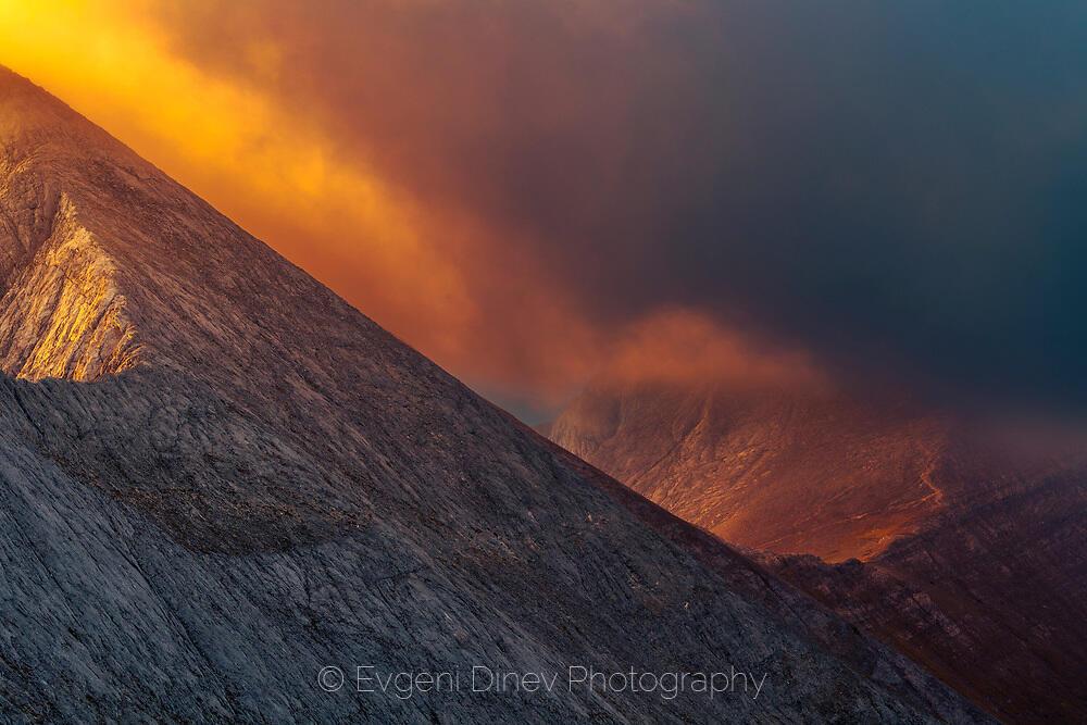 Огнени облаци над Вихрен