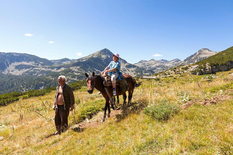 С кон в Пирин