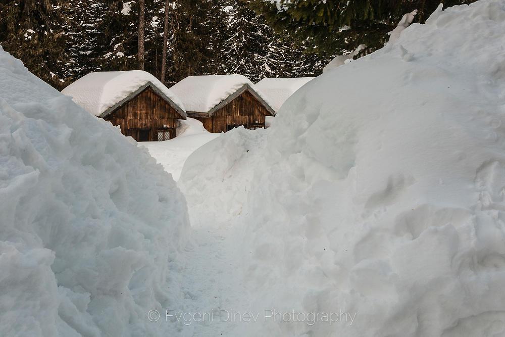 Бунгала зарити в сняг