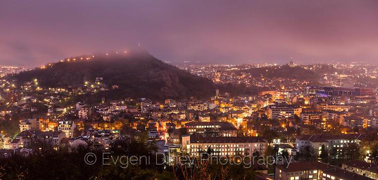 Изглед към Пловдив от Младежкия хълм