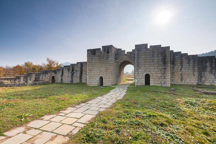 Стените на древния град Преслав