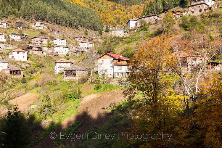 Родопски къщи в село Острица