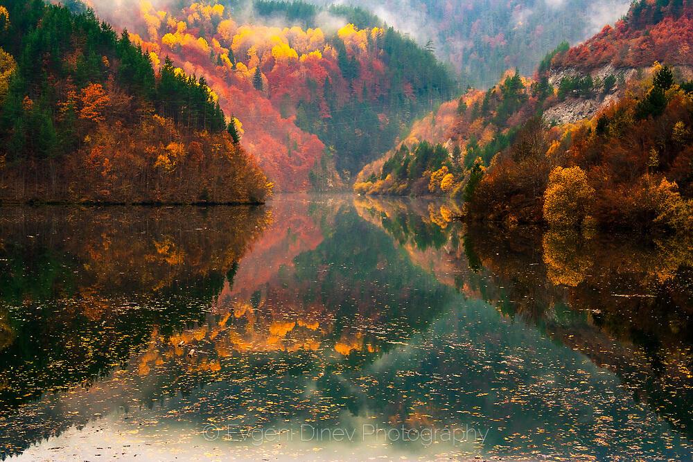 Родопски отражения в тихо езеро