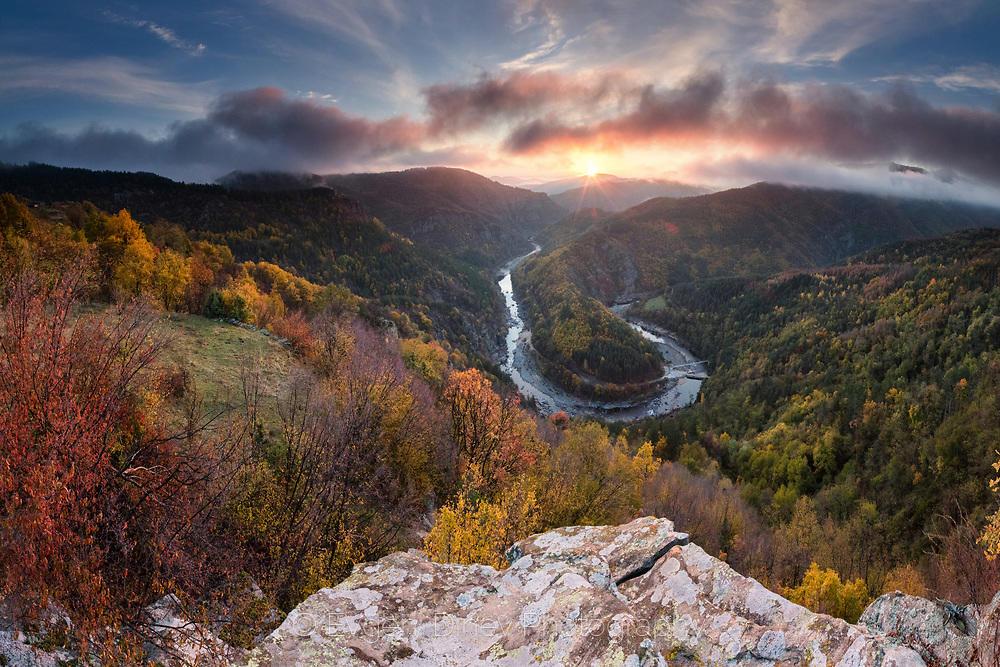 Панорама на река Арда отвисоко