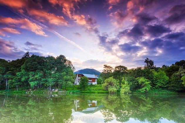 Езерце по залез до Смолян