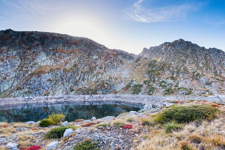 Черното езеро под връх Голям Полич