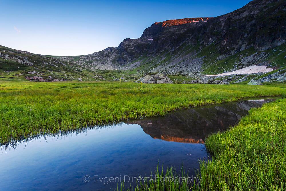Езеро Скакавица по залез