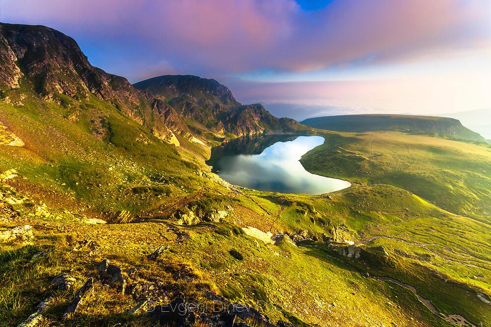 Пейзаж с езеро Бъбрека