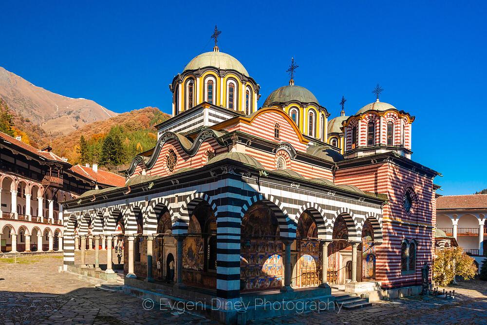 Рилския манастир през есента