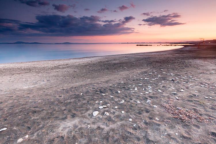 Плаж в Сарафово по здрач