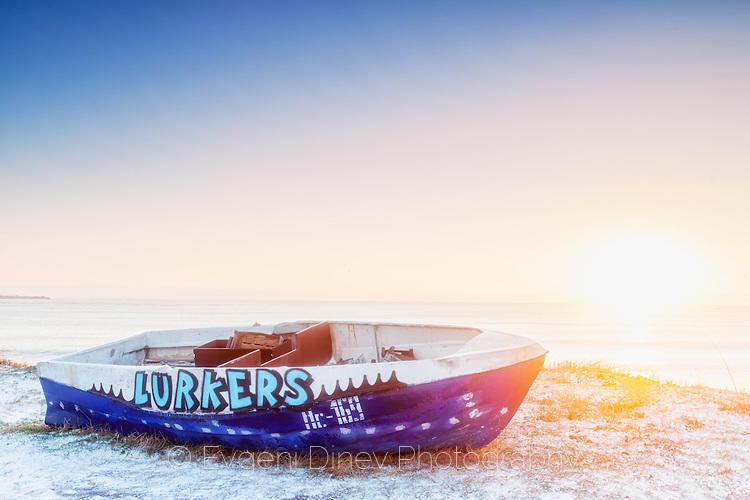 Шарена рибарска лодка