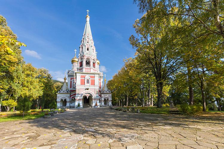 Есен край руската църква в Шипка