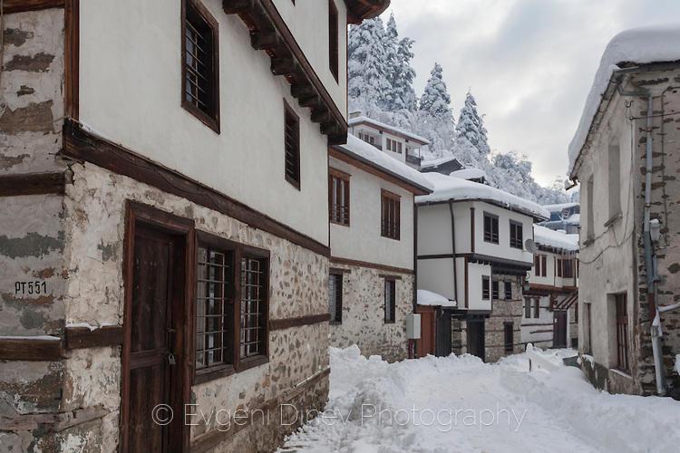 Снежна улица в Широка Лъка